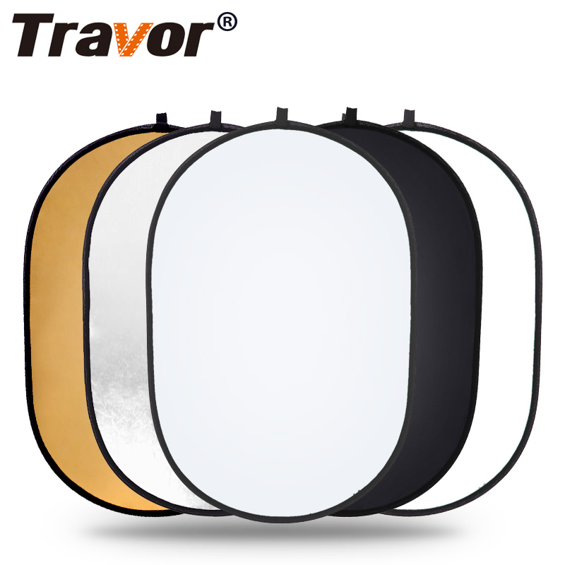 Travor 60x90cm Collapsible Reflector Oval  5 in 1 Multi Disc Photography Studio Photo Light Reflector handhold portable photo