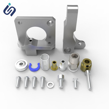 Metal MK8 Extruder For Creality 3d Printer Part Aluminum Alloy Block Bowden Extruder 1.75mm Filament For Ender CR Series Printer reprap kossel 3d printer aluminum alloy bowden extruder for 1 75 3 mm filament including 42 stepper motor