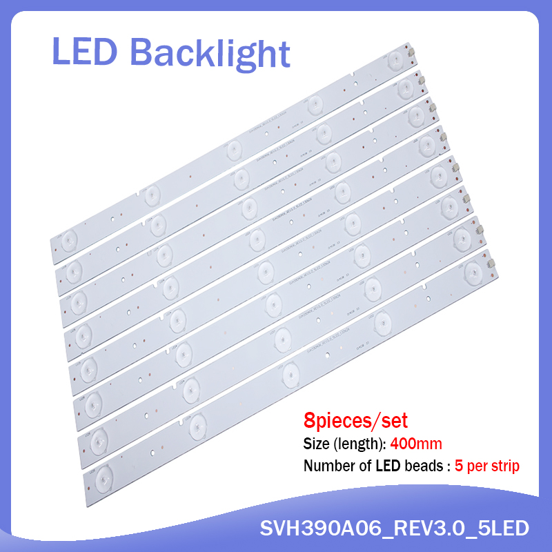 100%NEW 40Pieces/lot 5LEDS 400mm LED Strip For SVH390A06 NS-40D420NA16 Samsung 2013CHI400 3328N1 05