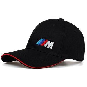 Men Fashion Cotton Car logo M performance Baseball Cap hat for cotton fashion hip hop cap hats(China)