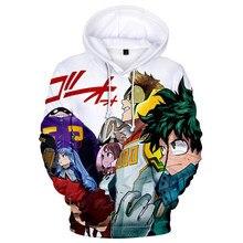 3 to 14 years old Kids Hoodie My Hero Academia Hoodie Cosplay Sweatshirts Himiko Toga 3D Student pullover Hip Hop Streetwear