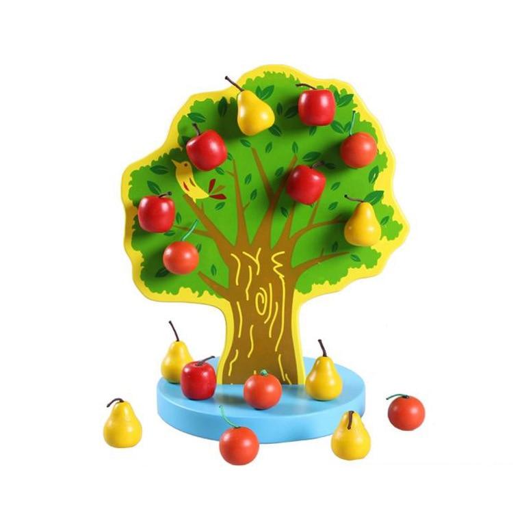 Youdele Magnetic Kuai Nogo Yuan Apple & Pear Montessori Educational Learning Mathematics Kindergarten Early Childhood Toy