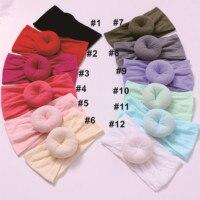 50pcs Girls Top Round Cloth Headbands,Cotton Hair Accessories for Kids ,Girls Cute Turban Hairband Soft Head Wrap 27 Colors