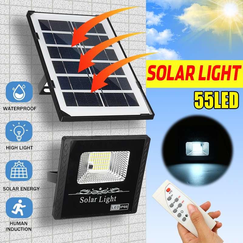 45W 55 LED Solar Light Floodlight Outdoor Garden Solar Lamp Adjustable Lighting Angle Solar Street Light With Remote Control