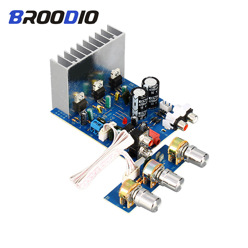 <font><b>TDA2030</b></font> 2.1 Channel Audio <font><b>Amplifier</b></font> Board 15W*2+30W Subwoofer <font><b>Amplifiers</b></font> Stereo For Speaker Amp DIY Accessories Dual AC12V-15V image