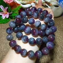 Genuine Natural Auralite 23 Round Beads Bracelet 12mm 13mm 14mm Natural Stone Bracelets Women Lady Stretch Healing Crystal
