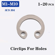 Elastic-Ring Retaining-Washer Circlip Snap 304-Stainless-Steel DIN472 GB893 M8-M75 C-Type