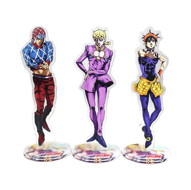 1 Pcs Cartoon Japan Anime Jojo Bizarre Adventure Cosplay Prop Accessories Acrylic Desk Stands Figure Model Toys Gifts 3