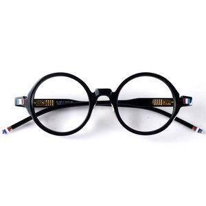 Image 1 - יפן עגול רטרו אצטט משקפיים מסגרת משקפיים TB406 שחור מעצב סגנון