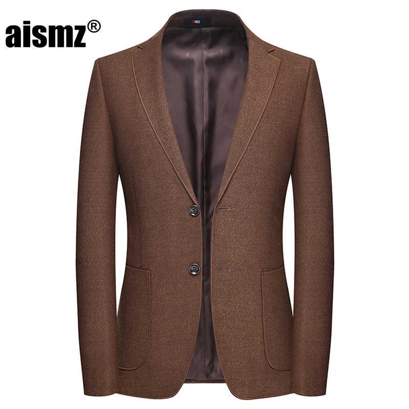 Aismz Slim Fit hommes Blazer Masculino Hombre affaires décontracté élégant printemps automne hiver hommes veste Blaser sobretudo Masculino