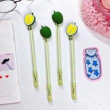 Petits stylos à encre Gel en forme de Durian, 4 pièces/lot, pour Signature, fourniture scolaire et de bureau, cadeau promotionnel