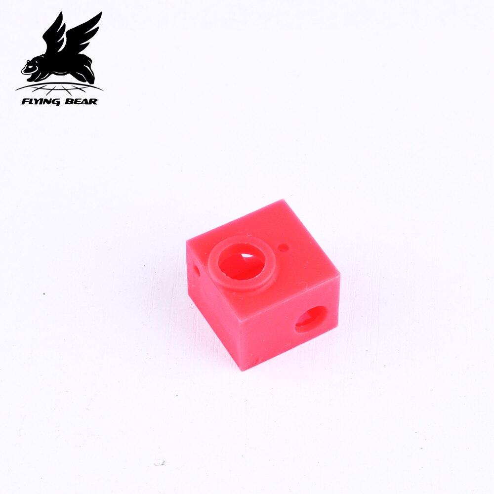 Силиконовые носки блок нагреватель силиконовый изоляционный чехол силиконовый рукав Горячий Конец 2 шт для летающего медведя ghost3/4/4S 3D принтер|3D принтеры|   | АлиЭкспресс
