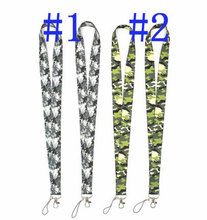 New 10pcs  Hunting jungle shooting digital camouflage pattern Lanyard ID Badge Holder Key Neck Strap