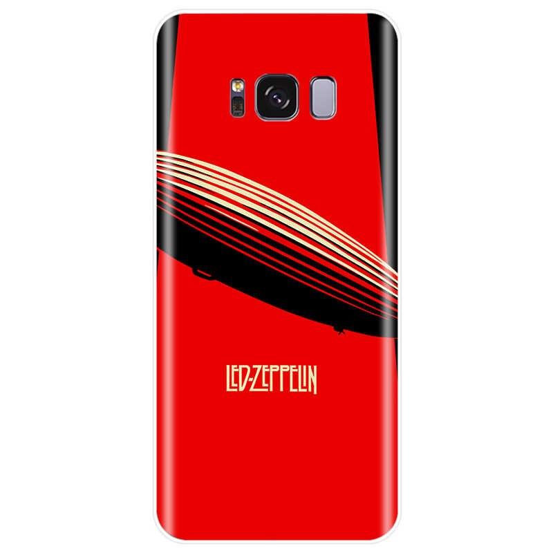 Zespół rockowy led zeppelin miękkiego silikonu TPU etui na telefon dla Samsung Galaxy NOTE 8 9 S7EDGE S6 S7 S8 S9 S10 PLUS S10lite