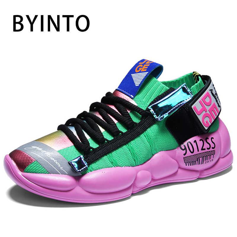 2020 Trend platformu kadın Tenis ayakkabıları spor nefes örgü kadın tıknaz çorap Sneakers spor salonu kadın spor ayakkabı Tenis Feminino