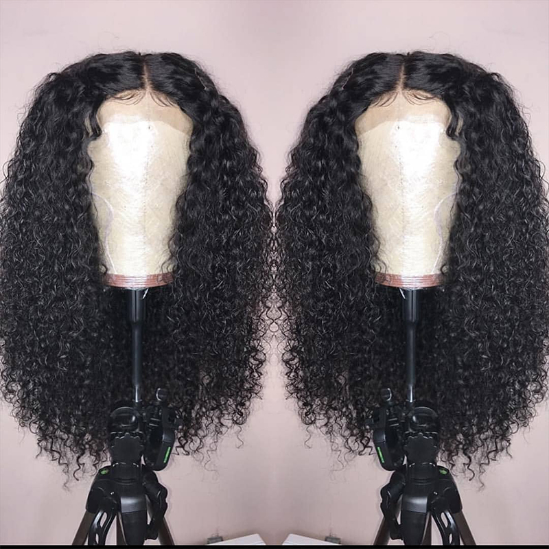 13x6 Curly Lace Front Human Hair Wigs 250 Density Brazilian Glueless Lace Frontal Wigs Pre Plucked