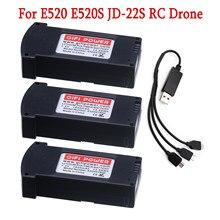 Originale Batterie LiPo Pour E520 E520S JD-22S RC Drone Quadrirotor Portable Pièces De Rechange Durables 7.4V 1850MAH 25C Batterie Au Lithium