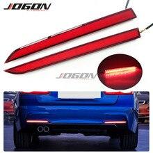 Rosso LED Paraurti Posteriore Del Riflettore Freno Sequenziale Luce Per BMW Serie 3 F30 F31 M Sport 2012 2019 di Ricambio