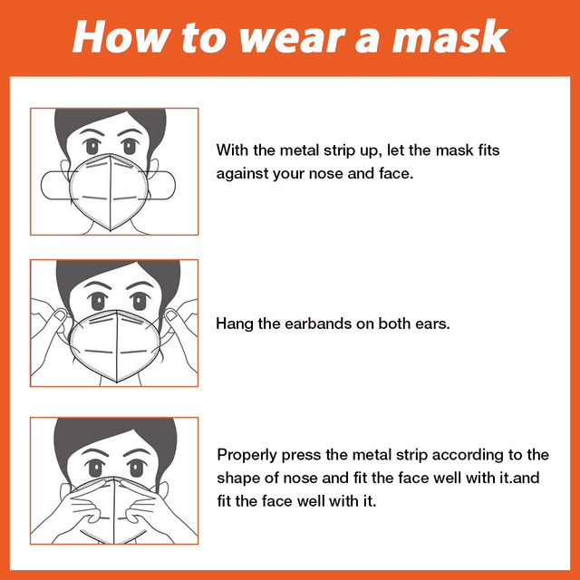 10pcs/20pcs Face Mask 5 Layers Anti PM2.5 Safety Dustproof Mask Breathable Face Mask Fast Ship 5
