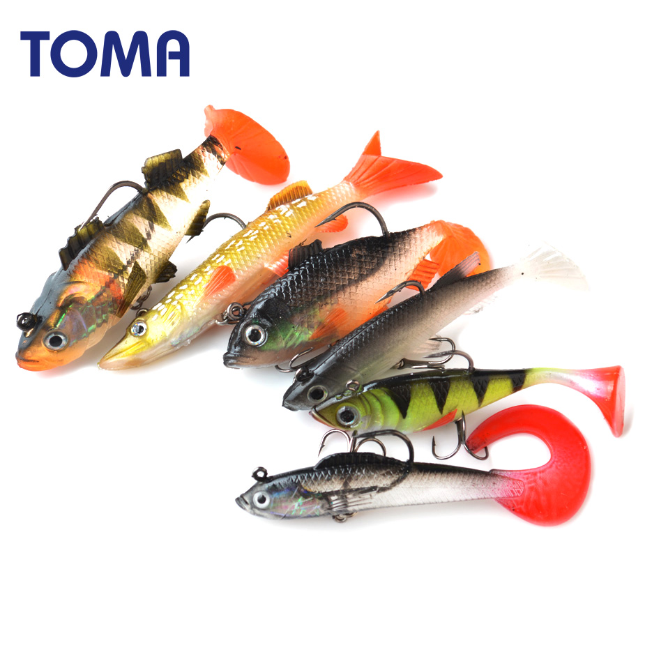 Topwater Frog Fishing Lures Artificial Bait with Hook 4D Fishing Eyes Soft Fishing Lures Bass CrankBait Wobblers Swimmbait Tackle Hooks