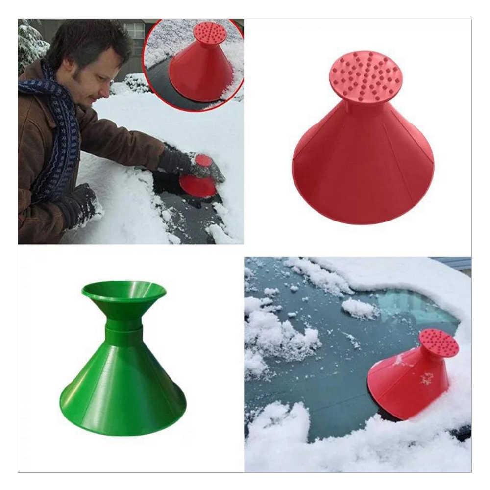 Cửa Sổ Kính Tuyết Tẩy Magic Xẻng Hình Nón Ngoài Trời Mùa Đông Xe Vệ Sinh Dụng Cụ Tuyết Kính Chắn Gió Phễu Băng Gạt Bỏ Shop