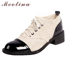 Meotina High Heels Women Pumps Natural Genuine Leather Square Heels Shoes Mixed Colors Round Toe Shoes Ladies New Big Size 34-43 цена 2017
