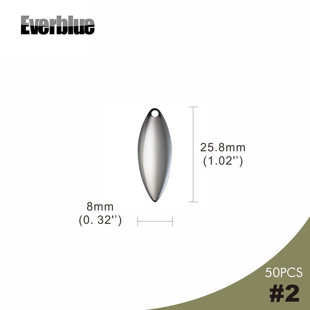 32 Fishing Spinner Propeller Blades Size 2