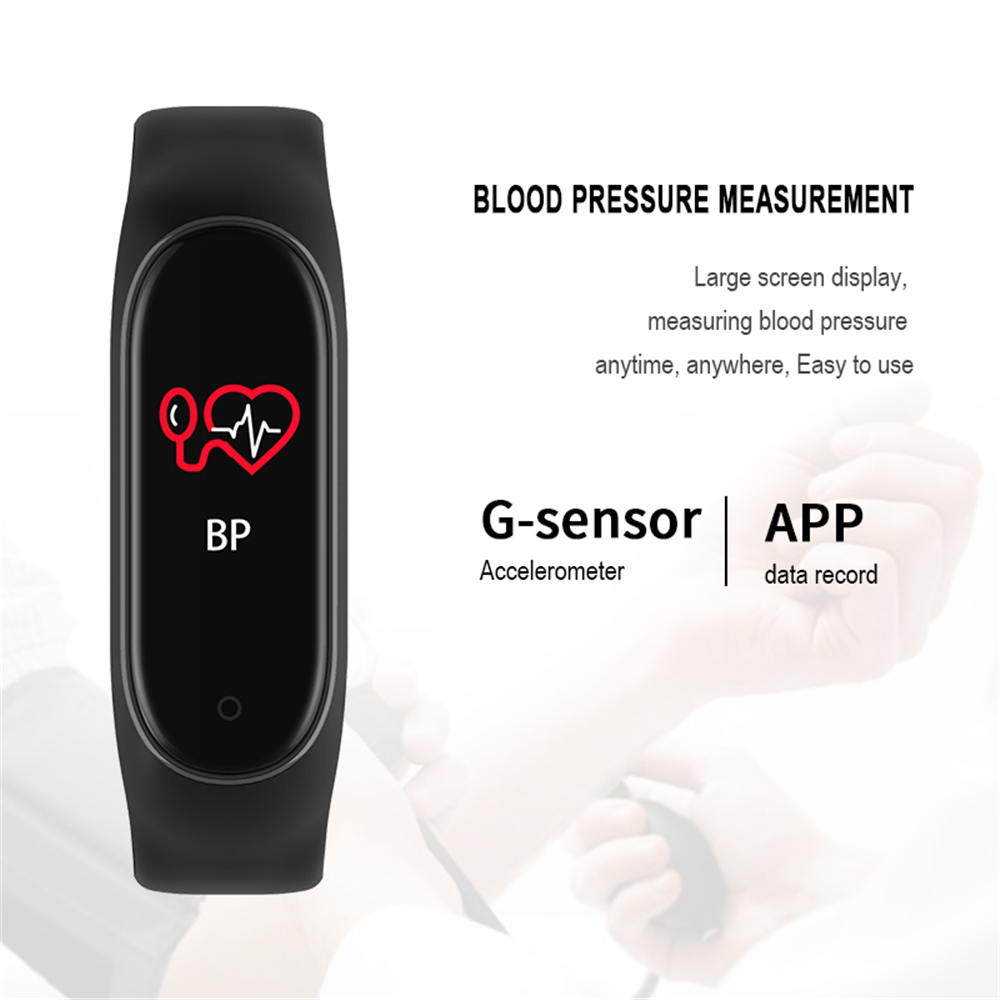 M4 Color Screen Smart Wristband Heart Rate Monitor Fitness Activity Tracker Smart Band Blood Pressure Music Remote Control 3