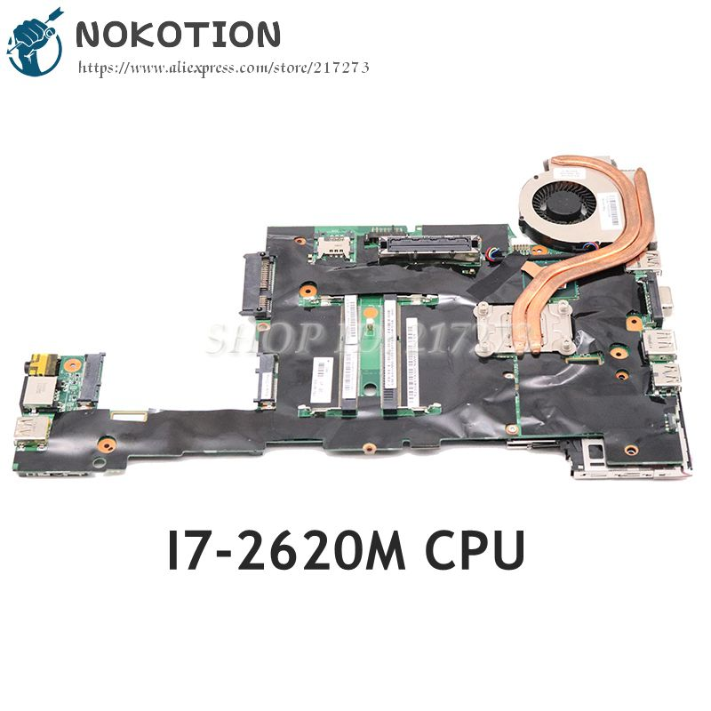 NOKOTION 04Y1830 04Y1832 04Y1831 04Y1833 For Lenovo ThinkPad X220 X220I Laptop motherboard <font><b>I7</b></font>-<font><b>2620M</b></font> CPU DDR3 image