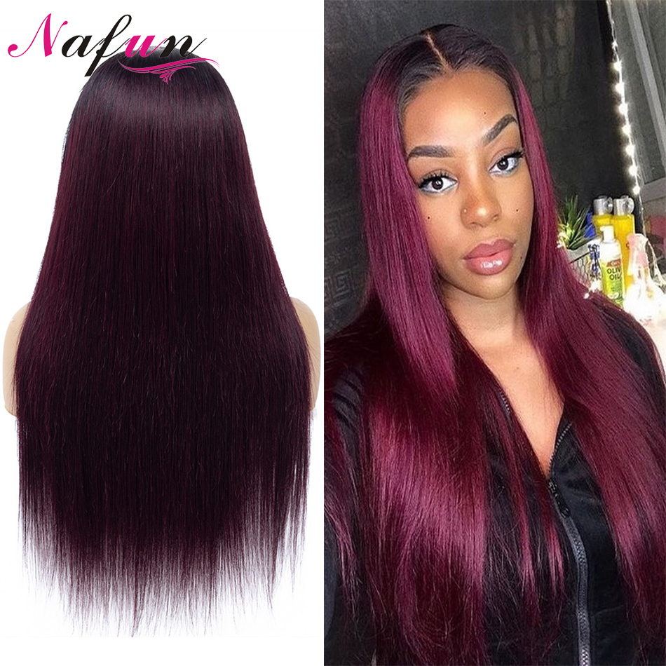 1B99J 27 30 4x4 Lace Front Human Hair Wigs Brazilian Straight Lace Frontal Wig For Women Remy Hair 150% Density Lace Closure Wig