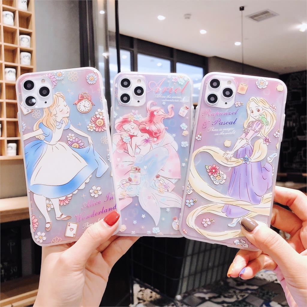 Alice Princess Rapunzel Mermaid Pattern Phone Case For Iphone 11 Pro Max