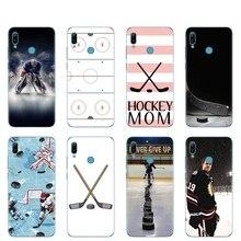 Cassa del telefono del silicone della copertura di caso per huawei Y5 Y6 Y7 Y9 PRO PRIME 2019 honor 8s 8a 20 LITE PRO 10i vista 20 V20 Hockey Su ghiaccio Pista di Pattinaggio di sport Mamma