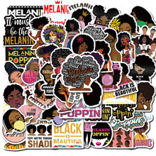50 шт модные Вдохновенные меланина попсовое черный девушка наклейки