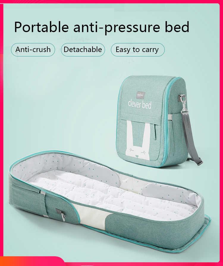 Cama portátil de valdera no útero móvel dobrável do berço do bebê da anti pressão a
