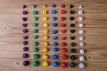 Набор из десяти игральных костей; D4, D6, D8, D10 odd, D10 even, D12, D20, D24, d30, многогранные игральные кости, полный выбор, подходит для всех видов