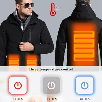 цена на Winter Warm USB Heating Cotton Jackets Outdoor Waterproof Windbreaker Hiking Camping Trekking Skiing Coats Dropshipping
