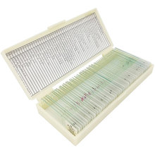 50 PCS Prepared Basic Science Microscope Slides Learning Resources Prepared Slides in Box for Teaching Learning цена и фото