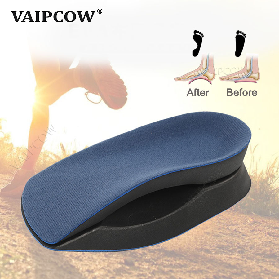1 Pair EVA Flat Foot Orthotics Insole Arch Support Half Shoe Pad Orthopedic Insoles Foot Care For Men And Women