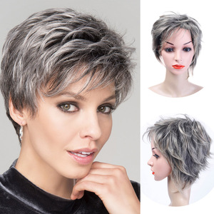 Image 1 - MUMUPI synthetic  Short curly wig hair extension pixie Cut Wig for Women High Temperature Fiber Wig Fashion Lady Wig