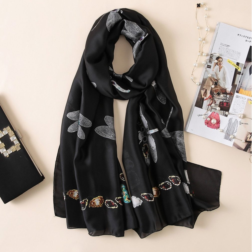 Women's <font><b>Silk</b></font> <font><b>Scarf</b></font> Beach <font><b>Scarf</b></font> And Echarpe Luxury Wrap Designer <font><b>Scarves</b></font> <font><b>180*90cm</b></font> Female Beach Stole Bandana Print Hijab Wraps image