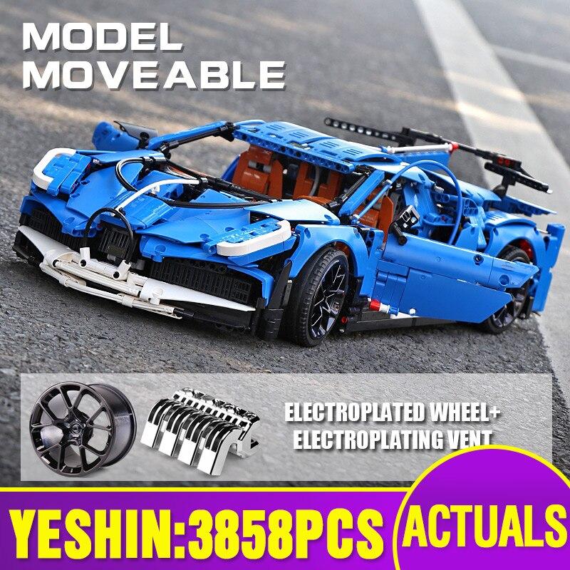 dhl 20086 tecnica carro compativel com lepining 42083 velocidade azul modelo de carro de corrida criancas