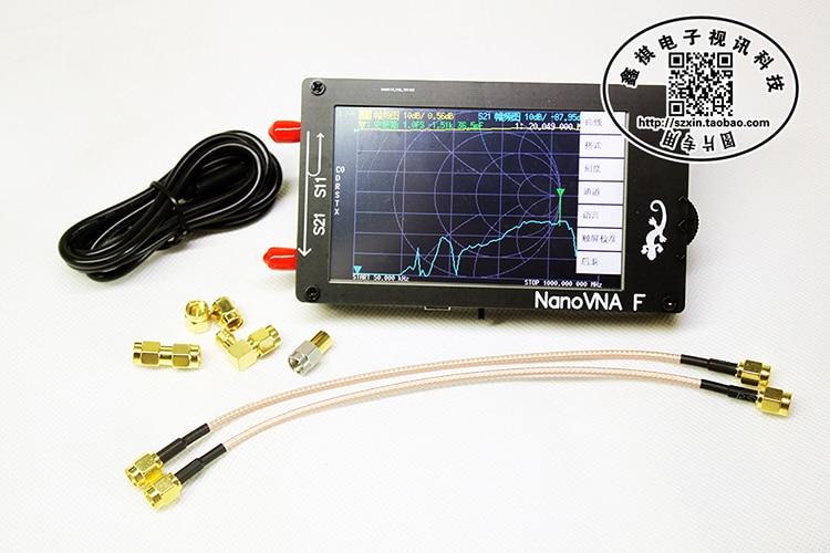 NanoVNA-F Portable Handheld Vector Network Analyzer SWR Meter 50KHz-1000MHz MF HF VHF Antenna Analyzer + 4.3Inch IPS TFT LCD