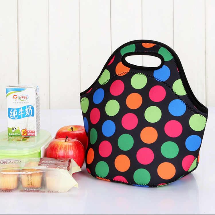 Draagbare Voedsel Zak Waterdichte Lunch Tas voor Vrouwen Kinderen Mannen Cooler Lunchbox Tas Tote Canvas Lunch Tas Isolatie Bolsa termica