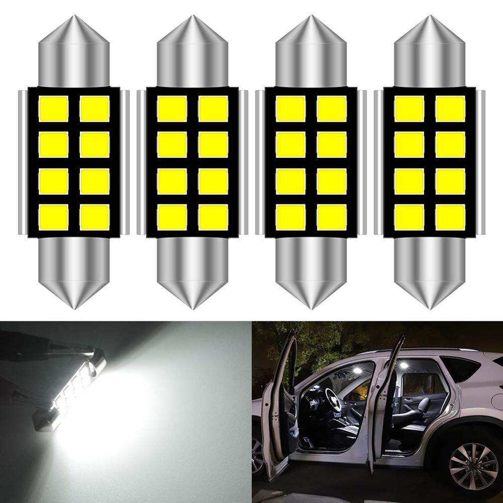 4pcs LED Bulb 36mm 31mm Canbus C5W Bulbs Car Interior Lights License Plate Light White For BMW E39 E36 E46 E90 E60 E30 E53 E70