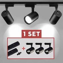 Ensemble complet de lampe sur Rail Led COB 12/20/30/40W, projecteur Led pour magasin de vêtements, maison 220V