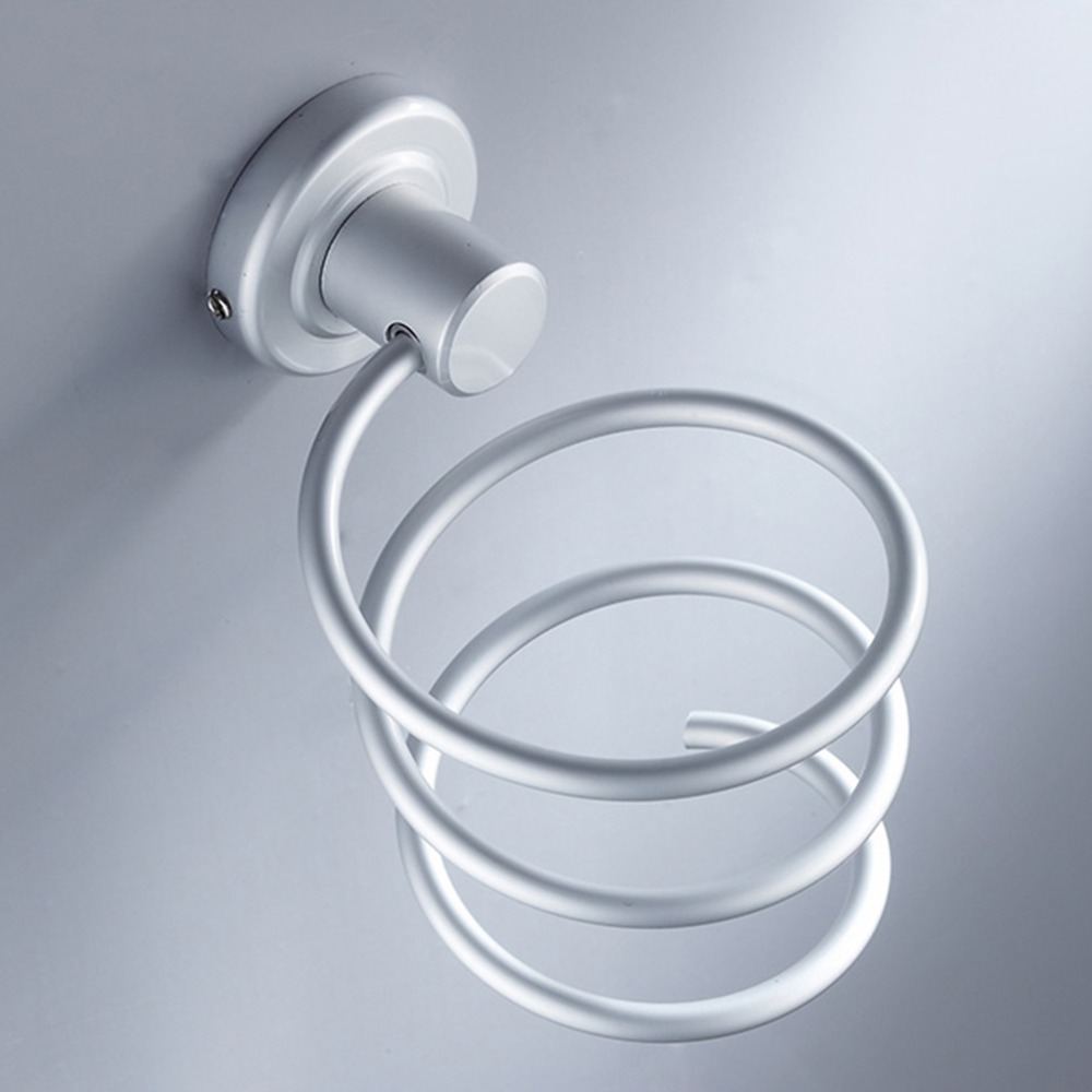 Durable Blow Hair Dryer Holder Aluminum Wall Shelf Bathroom Storage Stand Bath Hair Dryer Rack Home Storage Accessories