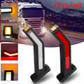 2x Универсальные для всех автомобилей грузовик с прицепом Ван Предупреждение Светильник цвета-красный, желтый, белый боковой габаритный фон...