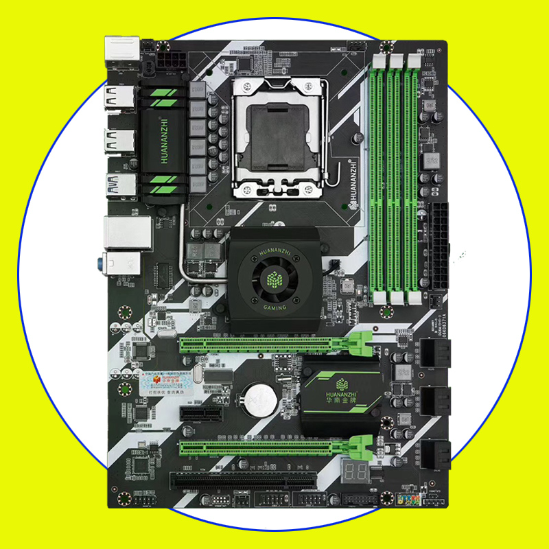 HUANANZHI X58 Deluxe LGA1366 Motherboard With North Bridge Cooler 3 DDR3 DIMMs RAM Max Up To 48G