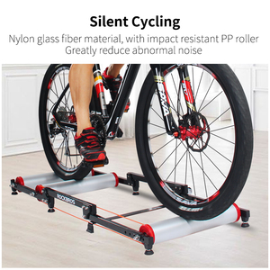 Image 2 - ROCKBROS Bike Roller Trainer Stand Bicycle Exercise Bike Training Indoor Silent Folding Trainer Aluminum Alloy For MTB Road Bike