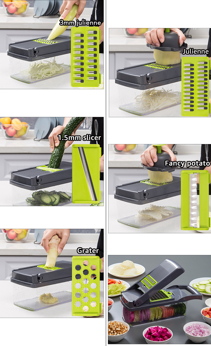 vegetable cutter multifunctional Mandoline Slicer Fruit Potato Peeler Carrot Grater Kitchen accessories basket vegetable slicer